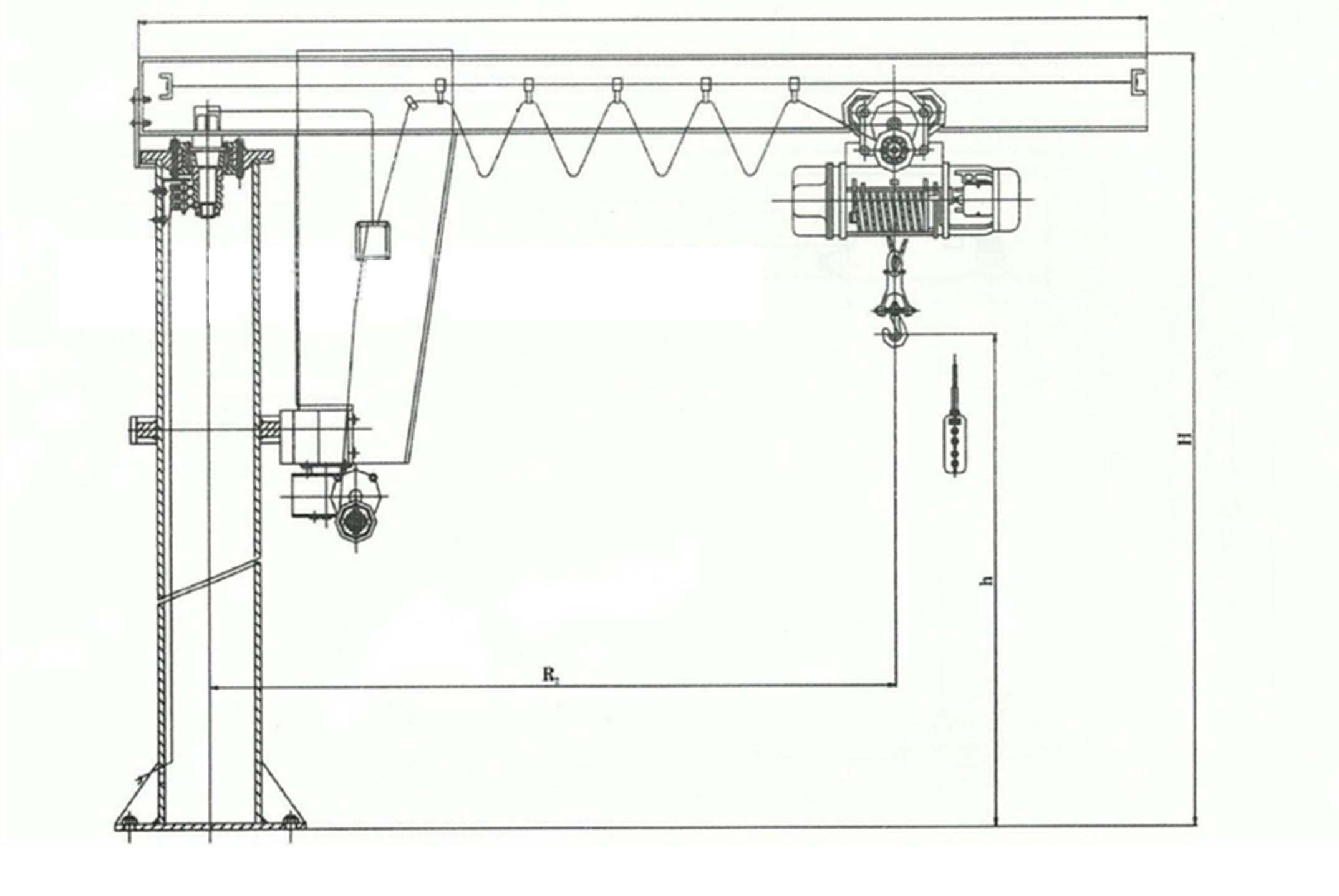 BZD型起重机,悬臂吊,悬臂起重机,定柱式起重机,起重机,定柱式悬臂起重机,定柱式悬臂吊<m met-id=26 met-table=product met-field=keywords></m>