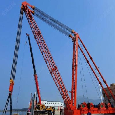 """东平港通航:看500吨桅杆式起重机""""承上启下"""""""